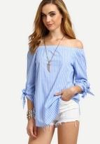 http://m.shein.com/Blue-Striped-Off-The-Shoulder-Tie-Cuff-Blouse-p-286351-cat-1733.html