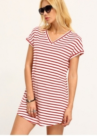 http://m.shein.com/Red-White-Stripe-V-Neck-Casual-Dress-p-280667-cat-1727.html